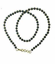 Negro y Dorado Cristal Perla Collar Joyería Cadena de plástico – con cuentas cadena de plástico