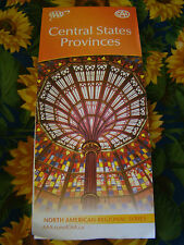 CENTRAL STATES PROVINCES REGIONAL SERIES HIGHWAY MAP AAA 4/13-7/14 NEW
