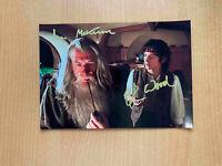 Ian McKellen Elijah Wood Frodo LOTR Hobbit COA autographed signed 6x8 photo