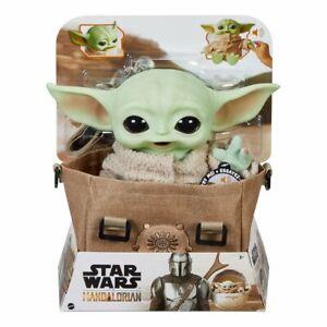 "Star Wars The Mandalorian The Child Grogu 11"" Talking Baby Yoda Carrying Satchel"