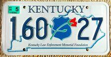 TARGA KENTUCKY Originale TARGHE auto AMERICANE USA Police Polizia Ufficiale US66