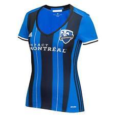 MLS Impact Montreal adidas Women's Replica Short Sleeve Jersey, Blue, XL