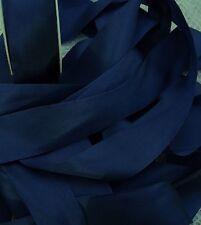 "100% PURE SILK RIBBON ~MIDNIGHT/BLUE  4 1/2 YDS 1"" [25MM] WIDE"