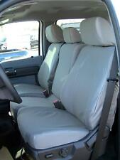 Exact Custom Fit Seat Covers, 2011-2013 Ford F150-F550 XLT and Lariat,Gray Twill