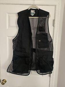 10X Black Mesh Vest Trap Skeet Clay Shooting Hunting Large XL