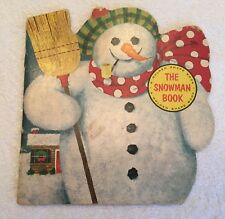 The Snowman Book,1965,Golden Press,Joseph Kaufman,Vintage,Christmas ,Printed Usa