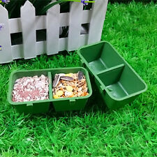 Double Trough Plastic with Hook for Parrot Hamster Totoro Cage Pet Hot.bh