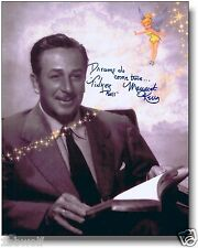 Dreams Come True Autographed Margaret Kerry Tinker Bell Walt Disney New 8x10