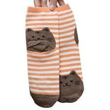 3D Cat Animals Flexible Striped Cartoon Socks Women Footprints Cotton Socks ☀
