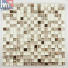 mosaïque Flumeri verre métal carreau / mat 29,5 x 29,5 x 0,8 cm