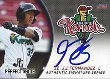 Jorge J.J. Fernandez 2015 Cedar Rapids Kernels Signed Card