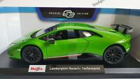 MAISTO 1:18 Scale Diecast Model Car - Lamborghini Huracan Performance - Green