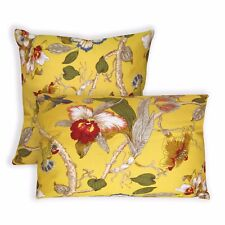 ai04a Lily Red Blue Green Pink Off White Yellow Cotton Fabric Cushion Cover Size