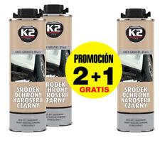 x3 Antigravilla color negro 1L , Protector bajos de coche, para pistola