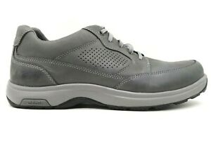 Dunham Gray Leather Casual Lace Up Slip Resistant Shoes Men's 12 EEEE / 4 E