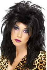 AÑOS 80 Popstar peluca negra NUEVO - carnaval PELUCA PELO