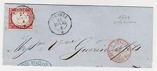 STORIA POSTALE 1862 SARDEGNA C.40 FIRENZE 31/7 Z/5926