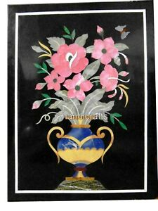 12 x 18 Inches Marble Wall Panel Table Coffee Table Top with Pietra Dura Art