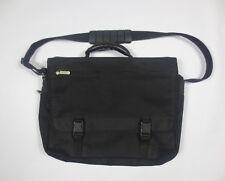 Avenues America Black Canvas Messenger Laptop Portfolio Case Bag 18 Inches