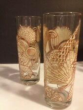 Tastesetter SEA SHELL Tumbler Glasses  Set of 6 Brown/Cream COLLINS