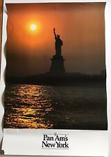 Pan Am's New York Vintage 1980s Travel Poster Pan American Airlines