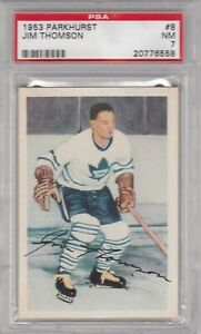 1953 Parkhurst #8 JIM THOMPSON, PSA 7 - NM