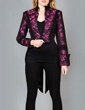 Ladies Tailcoat Punk Gothic Vintage Costume Victorian Steampunk Jacket Top