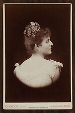 Julia Depoix Actrice Théâtre Photo Cabinet card Chalot Paris