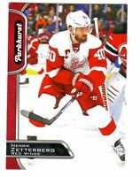 2016-17 UD Parkhurst RED Parallel #111 HENRIK ZETTERBERG Red Wings Retail Only