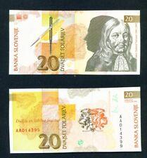 SLOVENIA  -  1992 20 Tolar  UNC Banknote