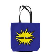 borse sportive , borse shopping in tela da donna blu senza marca
