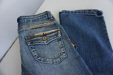 KARMA Damen Jeans bootcut stretch Hose Gr.34 XS L34 stonewash blau NEU ad33