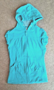 ladies blue body warmer / guilet size 8