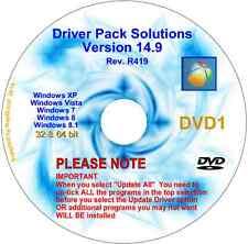 DRIVERPACK SOLUTION 14.9 2 DVDs Update PC drivers 32/64 bit  XP Vista 7 8 & 8.1