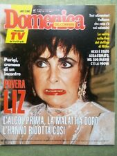 La Domenica del Corriere 20 Aprile 1989 Liz Taylor David Sinatra Dallas Fusione