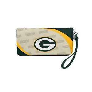 NFL Curve Zip Organizer Wallet Green Bay Packers