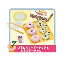 """Re-Ment """"DONUTS TO GO #7-Froggy and Berry, 1:6 mini Barbie size kitchen food"""