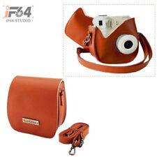 Instant Camera Leather Case Bag Pale brown for Fuji Instax Mini 7S Polaroid 300