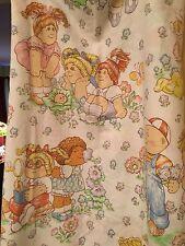 Vintage Cabbage Patch Kids Twin Flat Sheet Pastels
