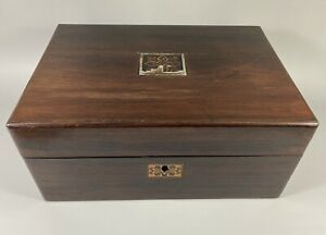 Antique Rosewood Jewellery/Workbox/Sewing Box