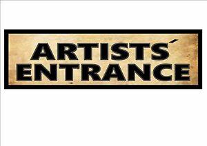 Theatre Artist Entrance Reproduction vintage retro Sign Vintage Theatre Sign