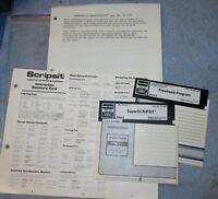 Vtg RADIO SHACK TRS 80 Super SCRIPSIT Computer Program Software 26-1590 J185