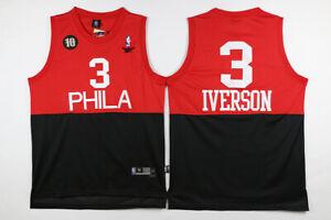 Allen Iverson #3 Philadelphia 76ers Men's Reebok red/black 10 anniversary Jersey