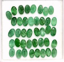 4.45 Cts Natural Emerald Oval Cut 5x3 mm Lot 20 Pcs Green Shade Loose Gemstones