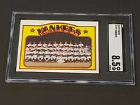 1972 Topps #237 New York Yankees Team SGC 8.5 Newly Graded NM/MT+ Beauty!!