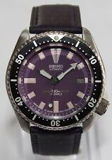 SEIKO Vintage 7002-7000 Classic Diver Purple Rain Automatic Watch Leather Strap