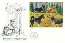 Finland 1989 Fdc Finnish Dogs - Karelian Bear Dog Hound Spitz Reindeer Scott 794