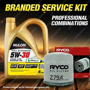 Ryco Oil Filter 5L SYN5W30 Engine Oil Kit for Kia Carnival Cerato Magentis Soul