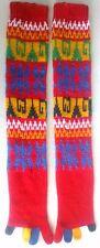 Pair of Retro 1970s-80s FiveFinger Knee High Socks,Mod,Multi-Color,UnisexKnitted