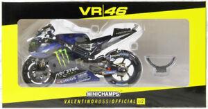 MINICHAMPS 1/12 ROSSI 2019 YAMAHA YZR M1 – MONSTER ENERGY MOTO GP EDL 1200 RARE